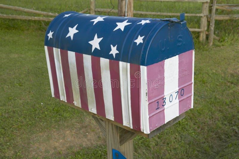 Boîte aux lettres d'indicateur des USA photographie stock libre de droits