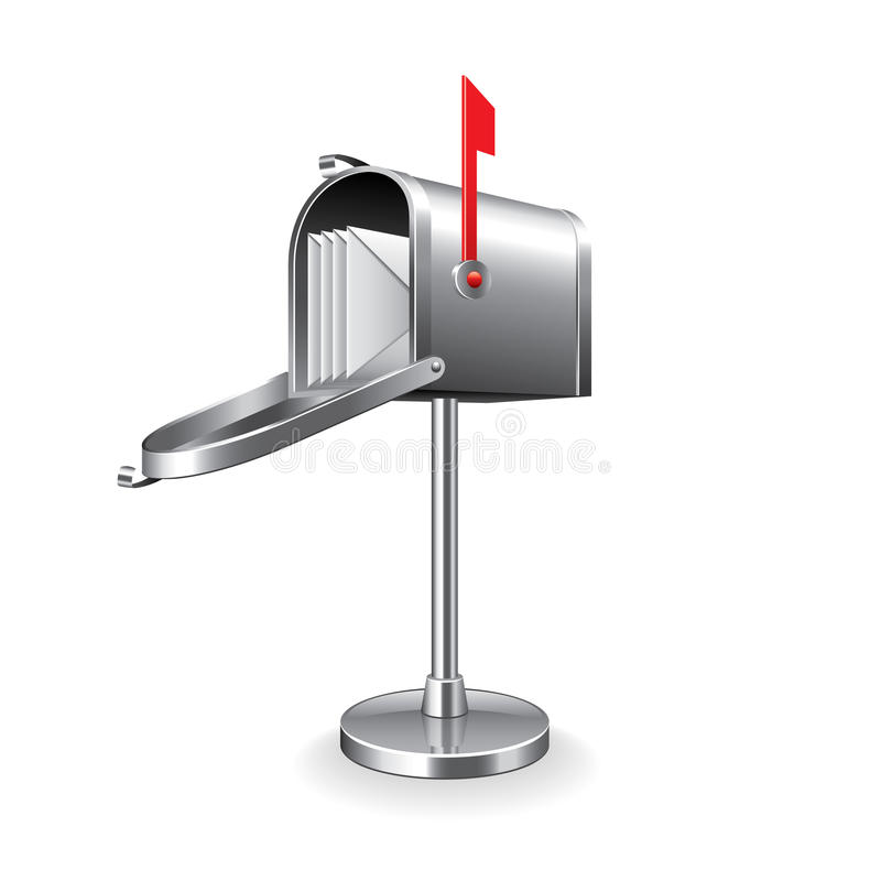 Boîte aux lettres d'isolement sur le vecteur blanc illustration de vecteur