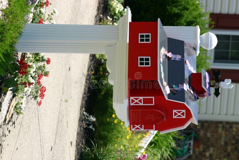 Boîte aux lettres de grange photo libre de droits