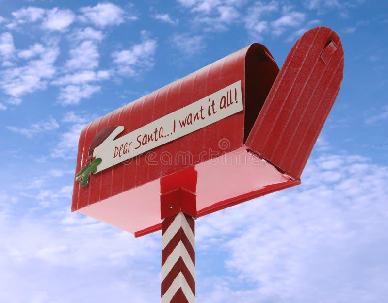 Boîte aux lettres de Noël photographie stock libre de droits