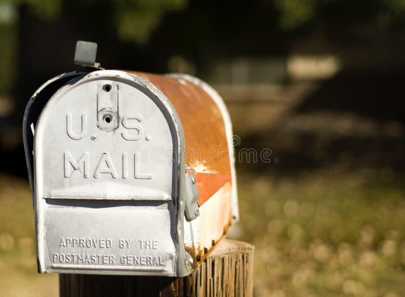 Boîte aux lettres des USA images stock