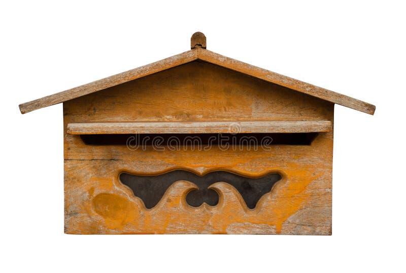 boîte aux lettres en bois images libres de droits