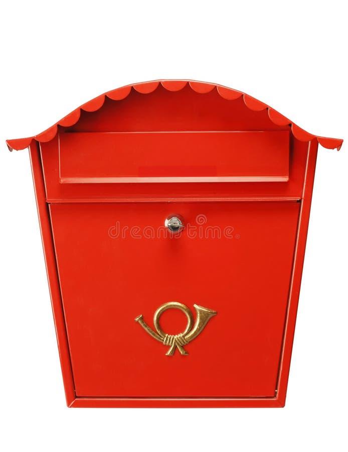 boîte aux lettres XL rouge photo libre de droits