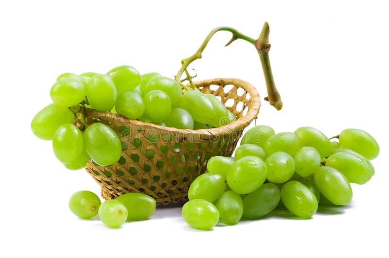 Boîte avec du raisin image libre de droits
