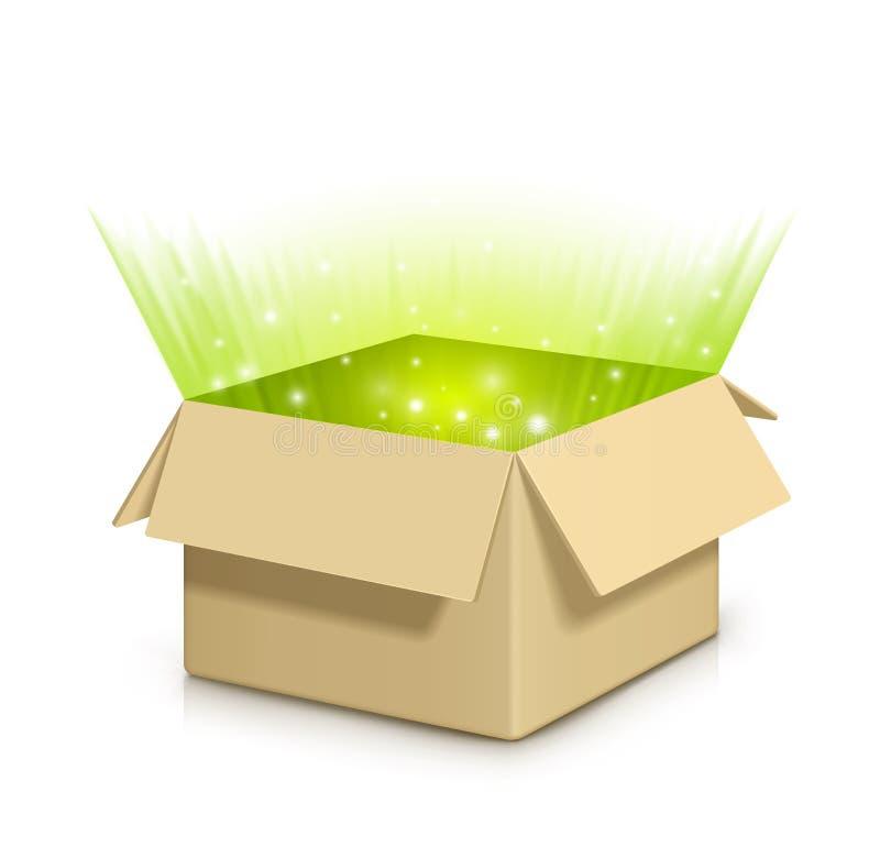 Boîte avec quelque chose à l'intérieur. illustration de vecteur