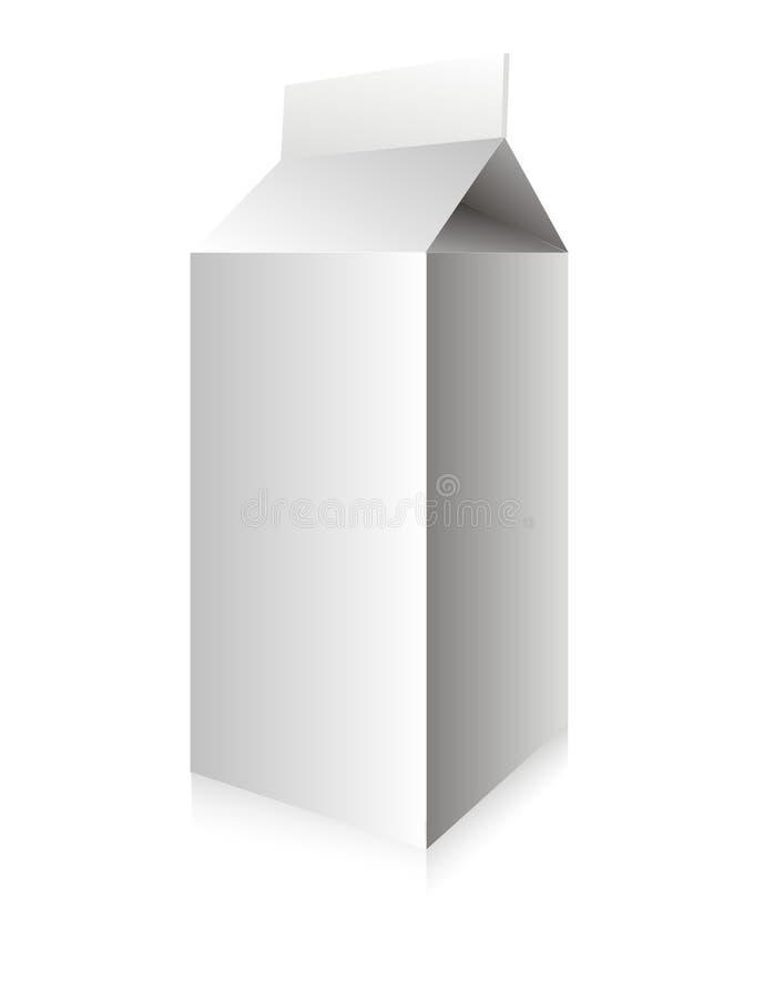 Boîte blanche à lait de vecteur