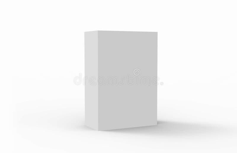 Boîte blanche d'emballage illustration de vecteur