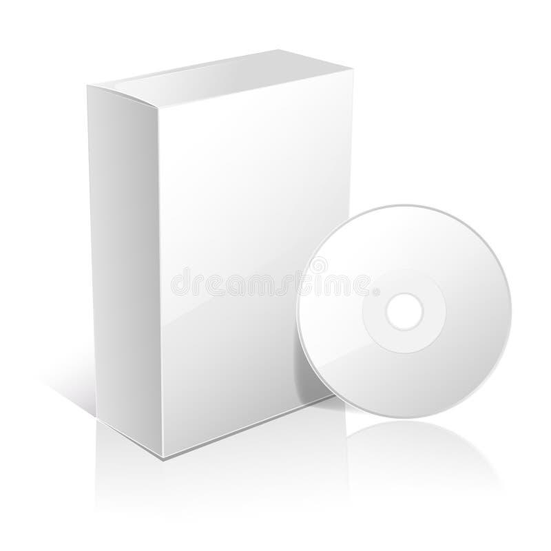 Boîte blanche de carton pour le logiciel illustration stock