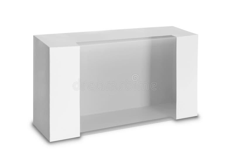 Boîte blanche de paquet de produit avec la fenêtre photo stock