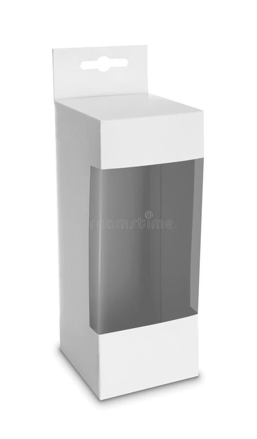 Boîte blanche de paquet de produit avec la fenêtre photos stock