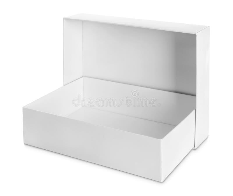 Boîte blanche de paquet pour des produits photographie stock libre de droits