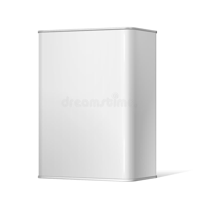Boîte blanche en métal de paquet illustration libre de droits