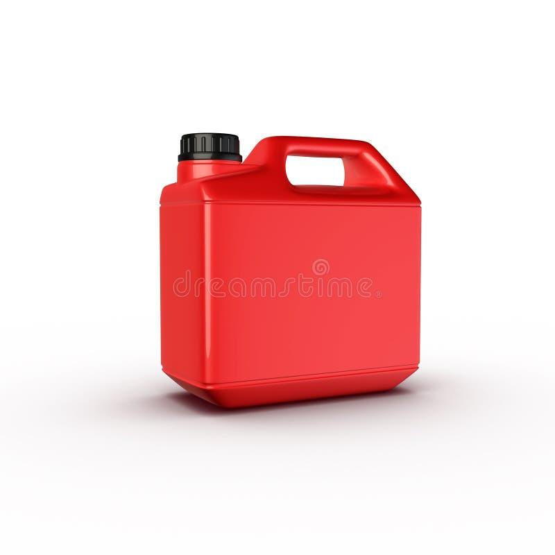 Boîte, bouteille de pétrole de moteur illustration de vecteur