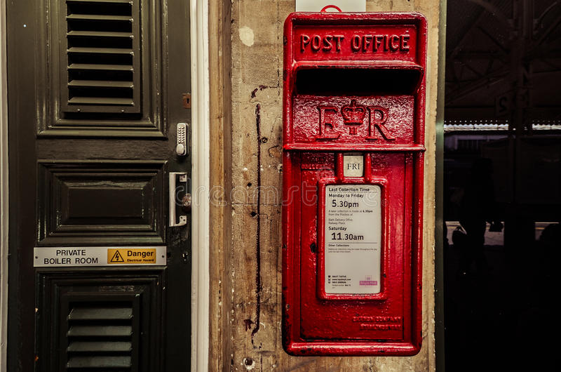 Boîte britannique de courrier photographie stock