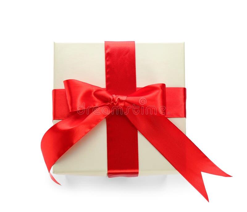 Boîte-cadeau élégant avec l'arc photos stock