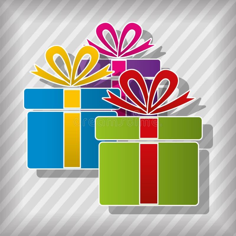 Boîte-cadeau illustration de vecteur