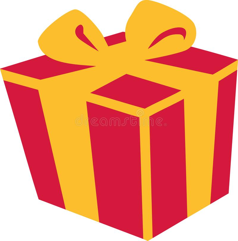 Boîte-cadeau actuel illustration de vecteur