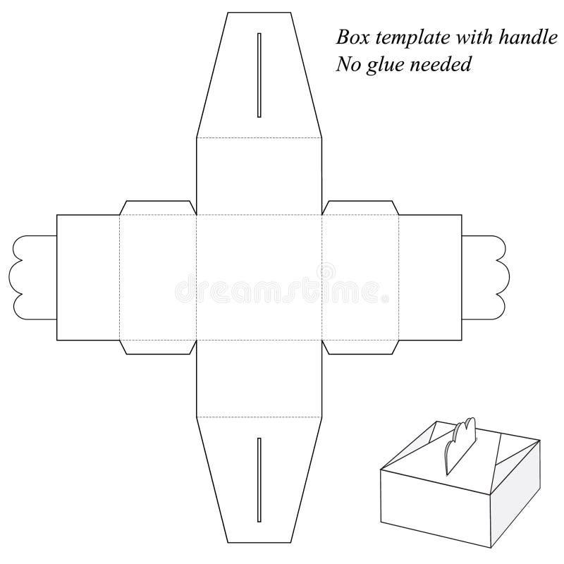 Boîte-cadeau avec la poignée, sans collage illustration de vecteur
