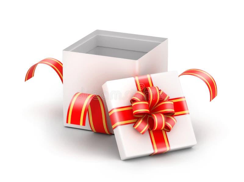 Boîte-cadeau blanc ouvert illustration libre de droits