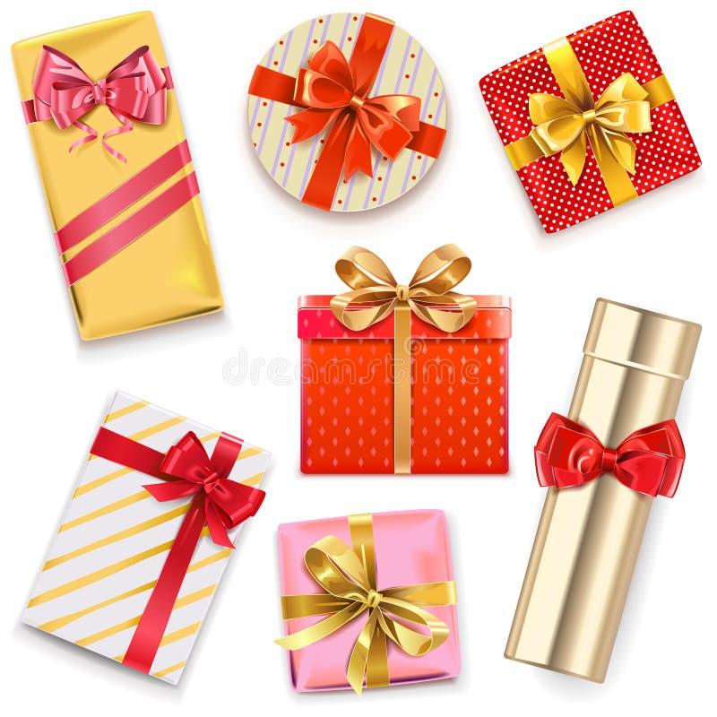 Boîte-cadeau brillants de vecteur illustration stock