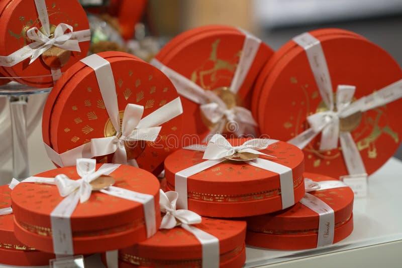 Boîte-cadeau de Venchi de chocolats photo libre de droits