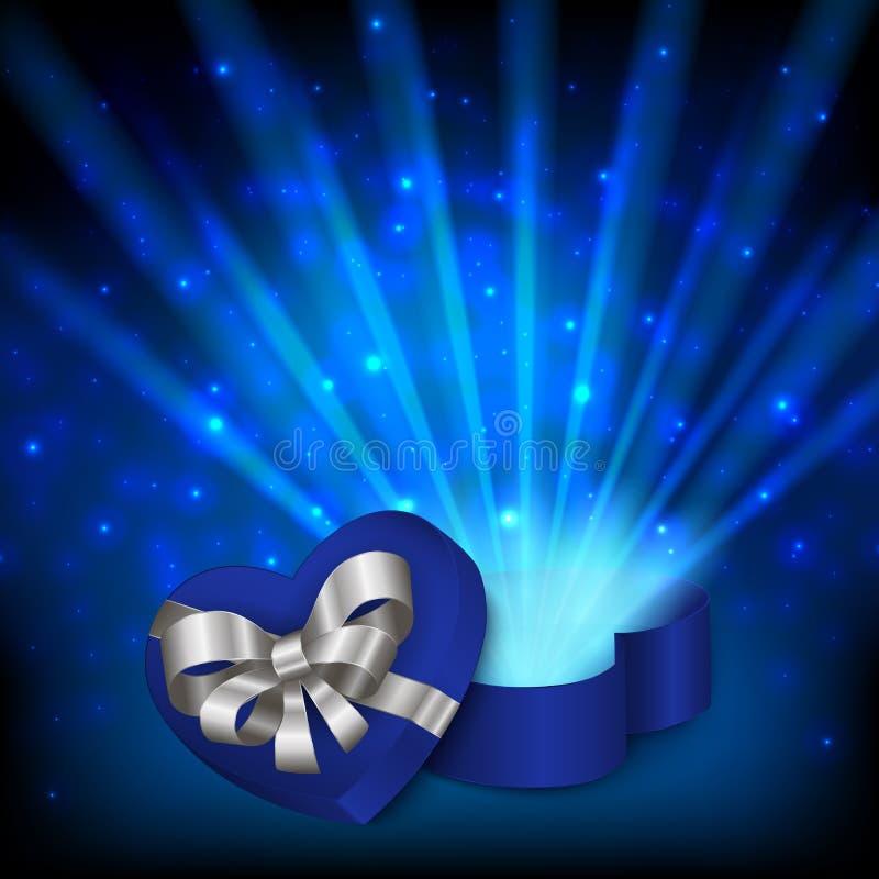 Download Boîte-cadeau En Forme De Coeur Illustration de Vecteur - Illustration du ouvert, coeur: 76086007