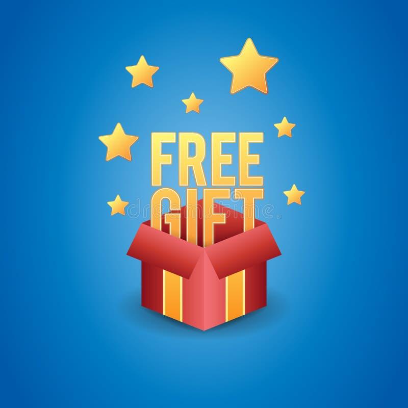 Boîte-cadeau gratuit illustration libre de droits