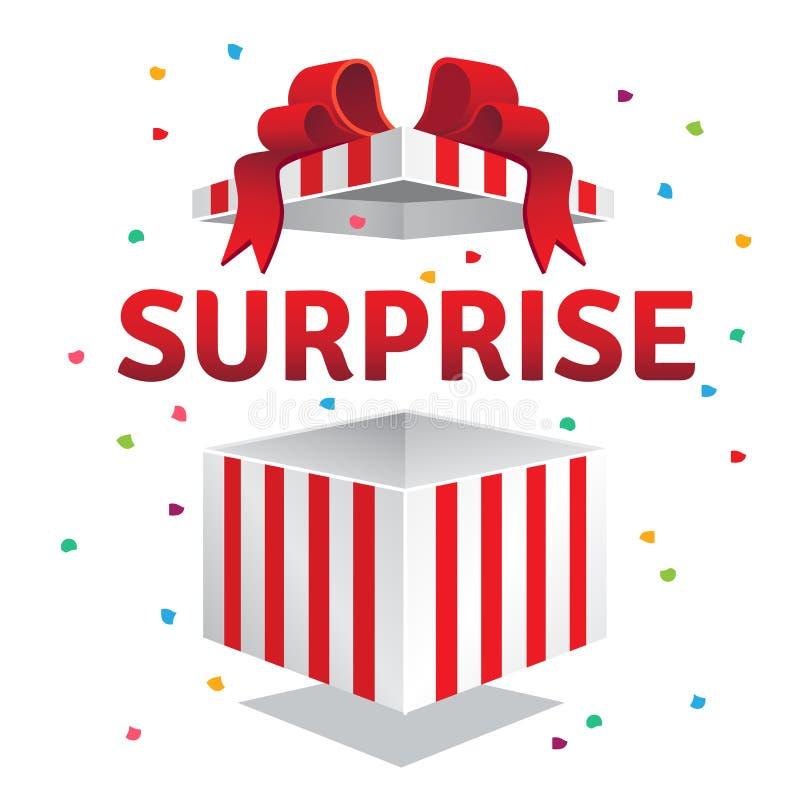 Boîte-cadeau ouvert de surprise illustration libre de droits