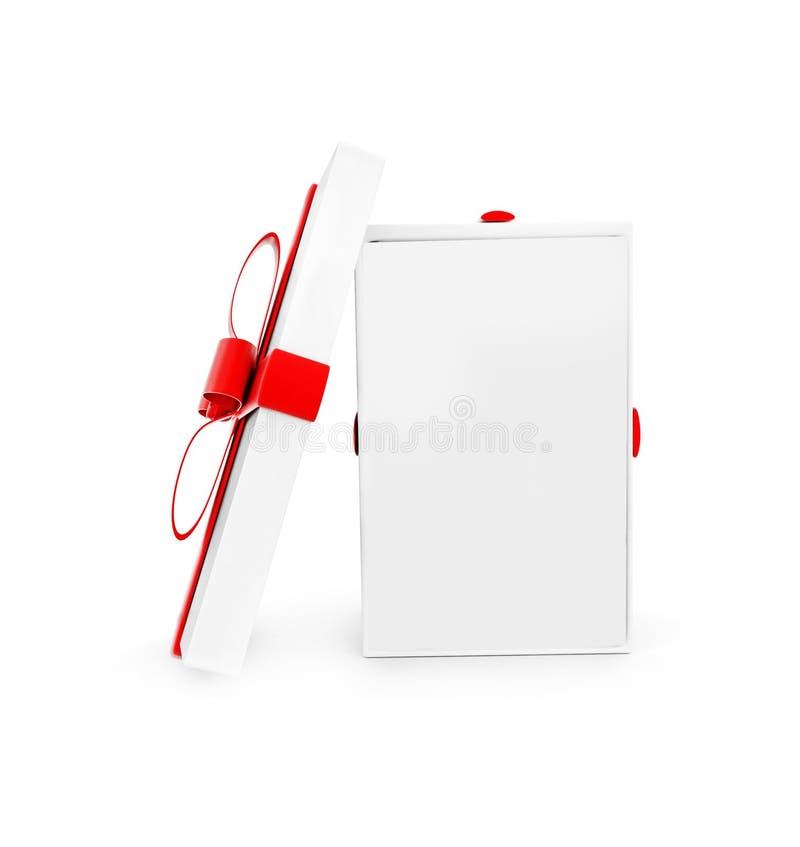 boîte-cadeau ouvert par 3d illustration de vecteur