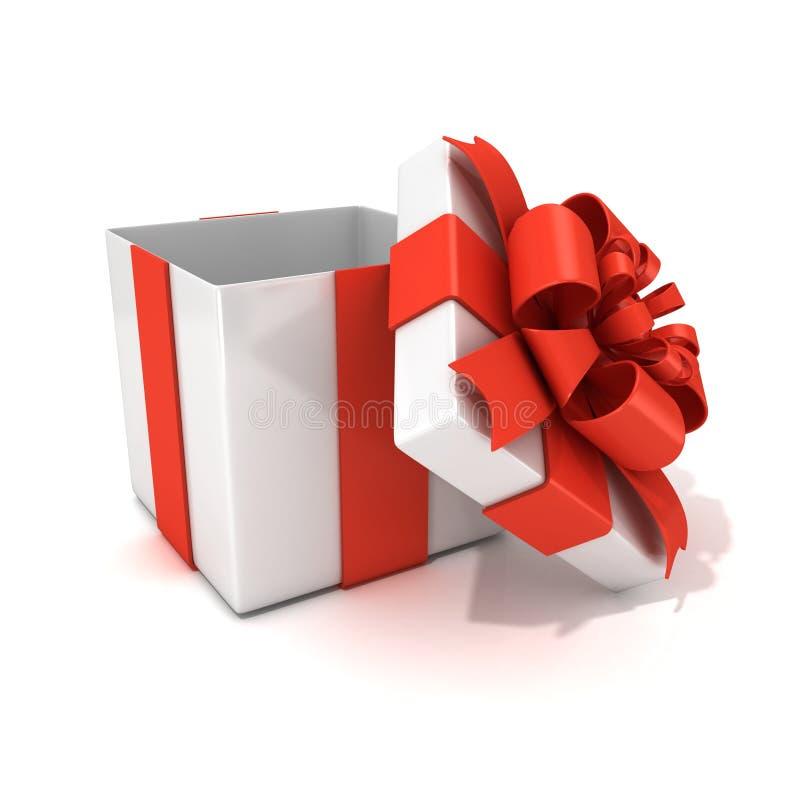 bo te cadeau ouvert vide blanc avec le ruban rouge illustration stock illustration du. Black Bedroom Furniture Sets. Home Design Ideas