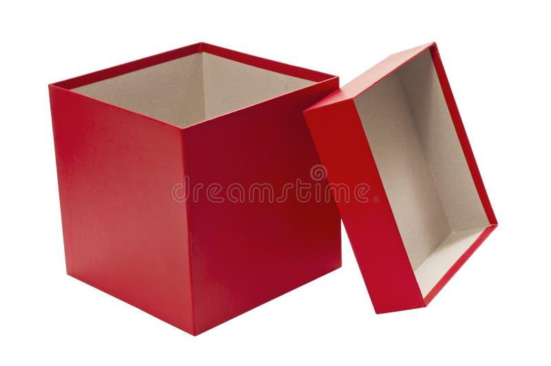 bo te cadeau rouge de no l vide avec le couvercle image stock image du fond cadeau 56462473. Black Bedroom Furniture Sets. Home Design Ideas
