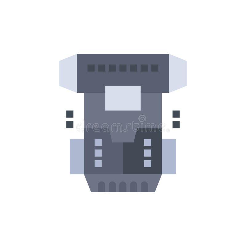 Boîte, chambre, cryogénique, cryogénisation, icône plate de couleur de Cryotherapy Calibre de bannière d'icône de vecteur illustration stock