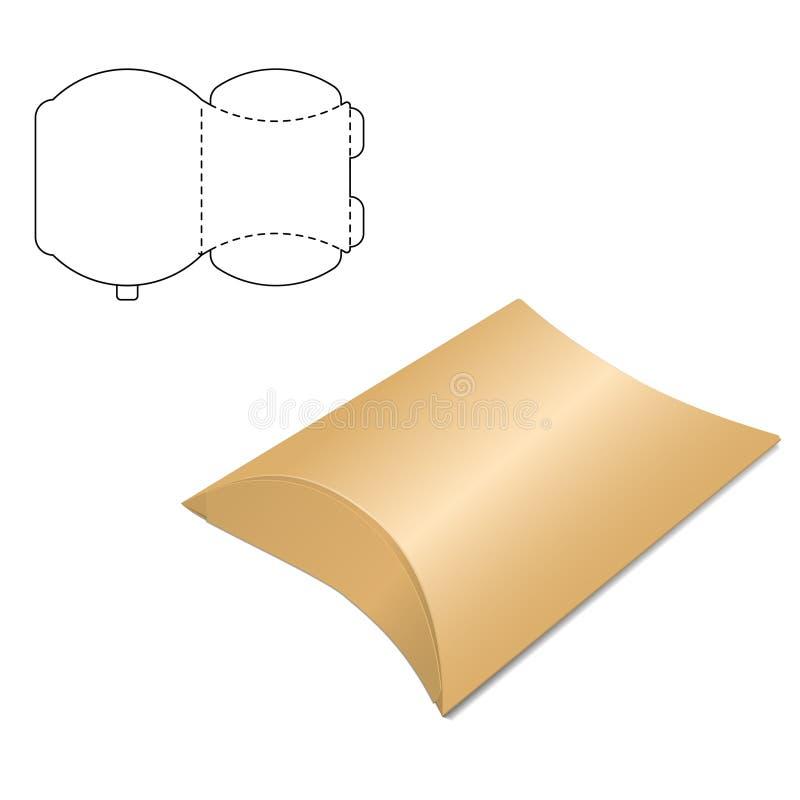 Boîte claire de carton illustration stock