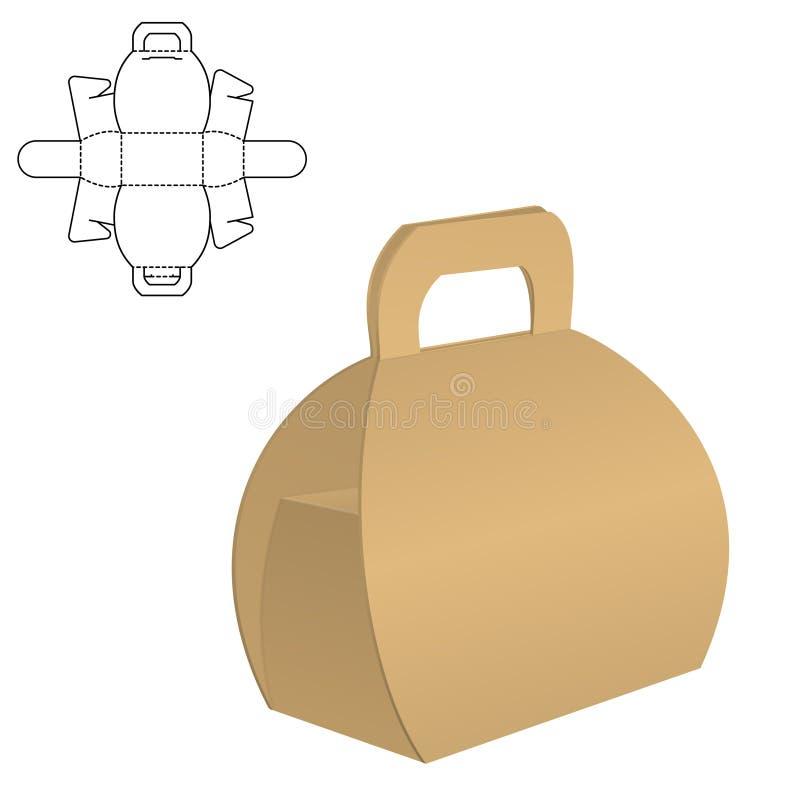 Boîte claire de carton illustration libre de droits