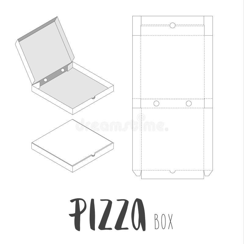 Boîte courante de vecteur pour la pizza photo stock
