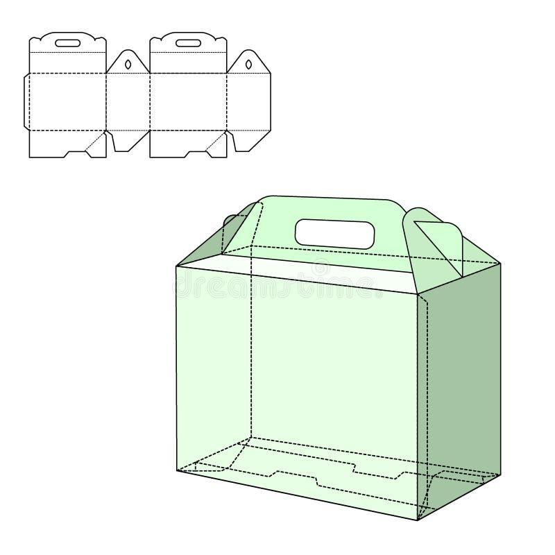 Boîte découpée avec des matrices illustration libre de droits