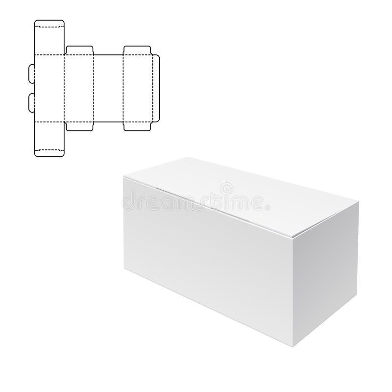 Boîte découpée avec des matrices de métier illustration libre de droits