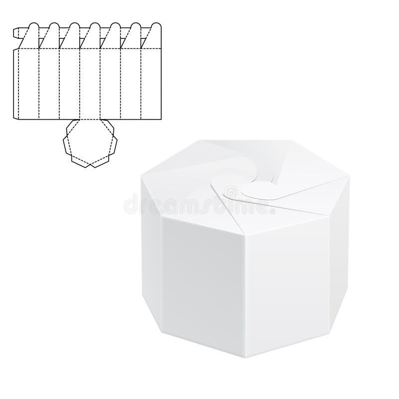 Boîte découpée avec des matrices 1 de métier illustration de vecteur