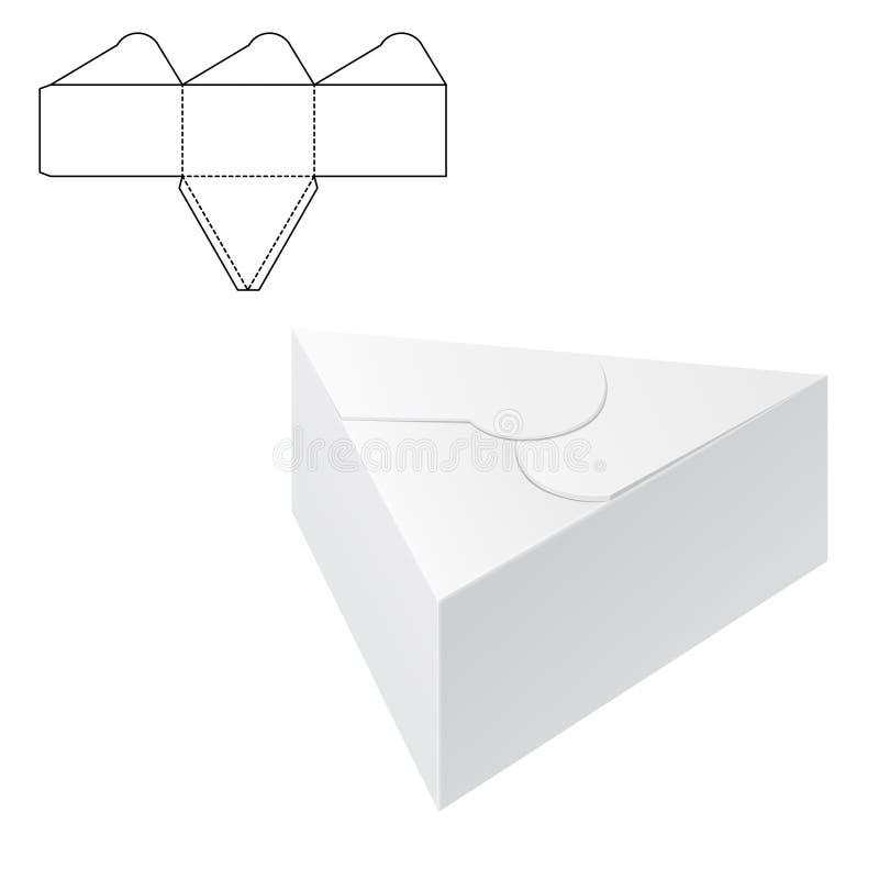 Boîte découpée avec des matrices 1 de métier illustration libre de droits