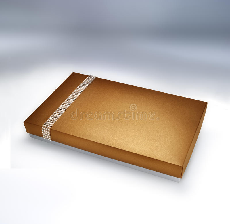 Boîte d'or photo libre de droits