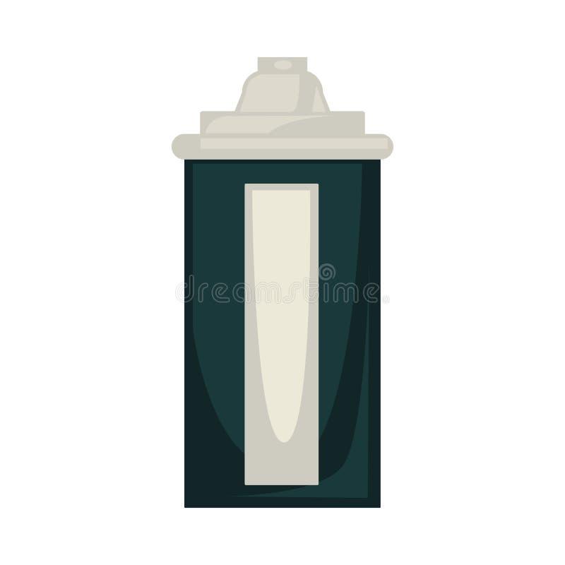Boîte d'aérosol colorée par noir illustration stock