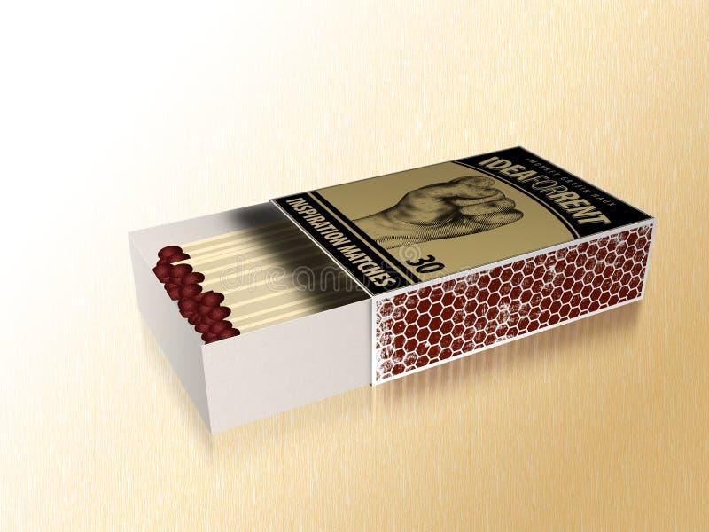 Boîte d'allumettes illustration libre de droits