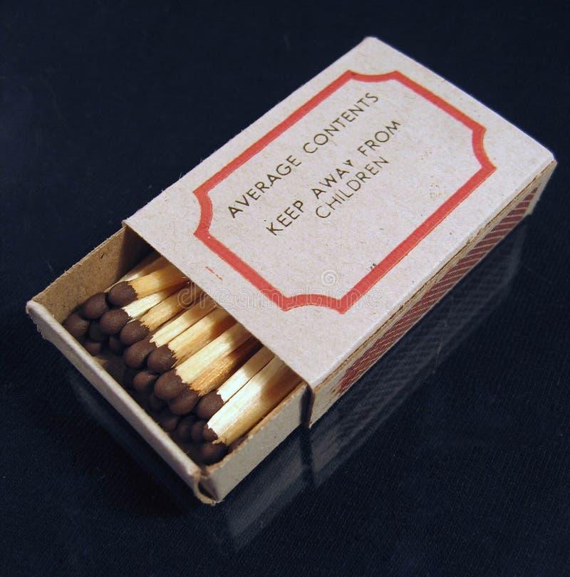 Boîte d'allumettes images libres de droits