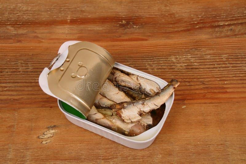 Boîte d'A de sardines images stock