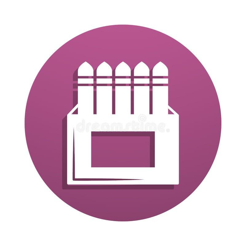 boîte d'icône de craie dans le style d'insigne Un de l'icône de collection d'outils d'art peut être employé pour UI, UX illustration stock