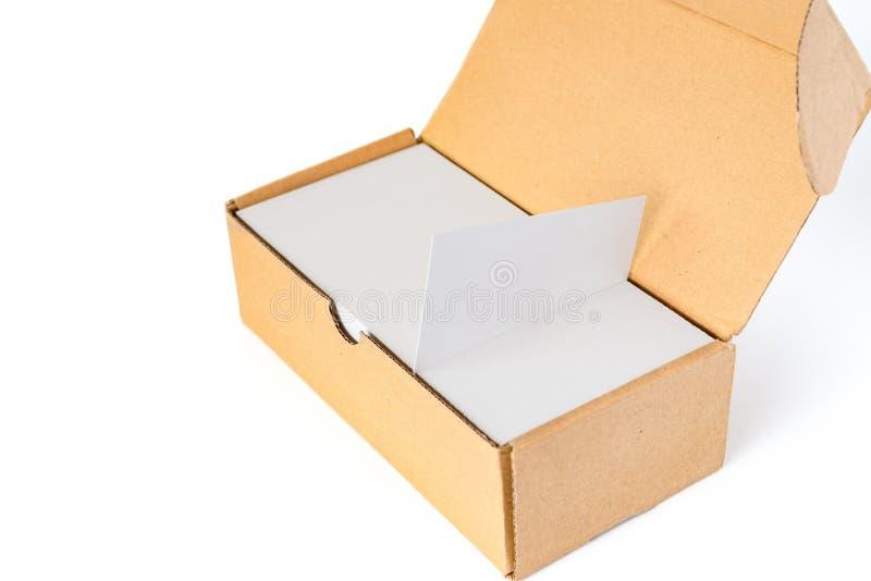 Boîte de cartes de visite professionnelle de visite avec vides bonnes pour le texte et le logo images stock