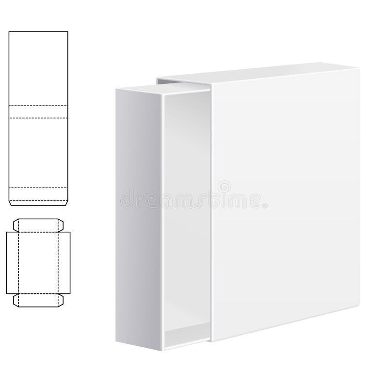 Boîte de carton de cadeau illustration de vecteur