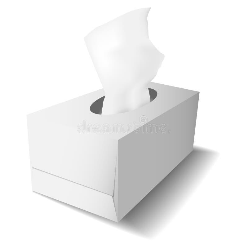 Boîte de carton pour le calibre de tissus illustration libre de droits