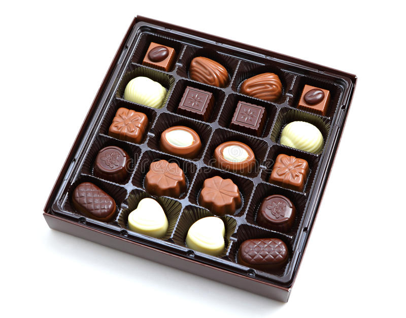 Boîte de chocolat photographie stock