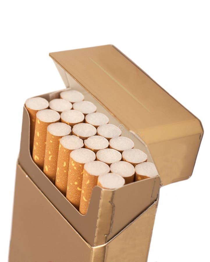 Boîte de cigarettes photo stock